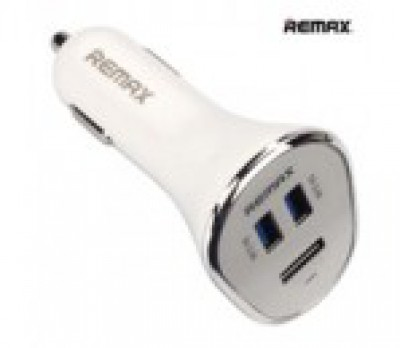 REMAX Car Charger Triple USB 6.3A White
