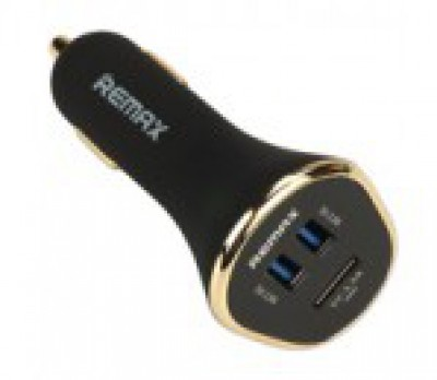 REMAX Car Charger Triple USB 6.3A Black