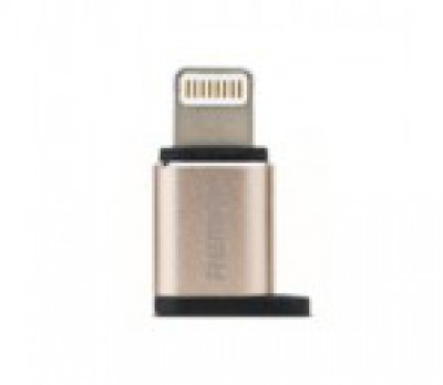 Переходник REMAX MICRO USB/LIGHTNING Gold