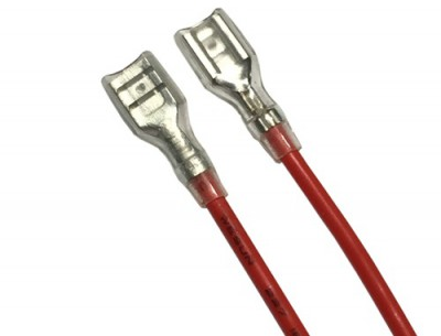 CABLE-6,3/RED 1MM2/300MM